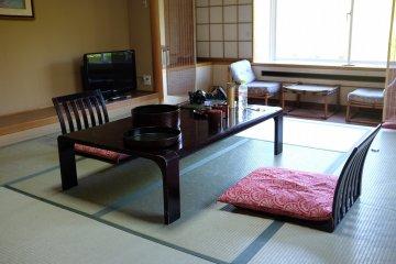 河口湖酒店-榻榻米地板的日式客房