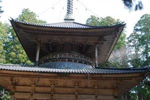 Impressive Saito pagoda in the Danjo Garan compound