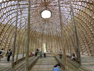 Inside the 'Dream of Olive' is a large airy area for visitors to sit down and relax in