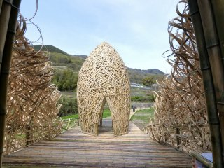 The shape of the structure draws inspiration from olives, a famous product of Shodoshima