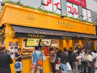 You won't miss Pablo Mini's bright yellow shop