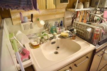 first floor sink by the kitchen