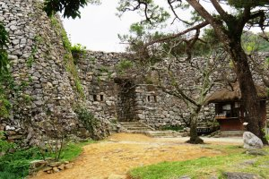 Enter the scared space that is Nakijin Castle