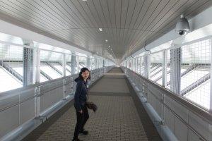 Lối đi bộ kín của cầu Shinminato