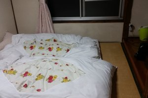 Double room with comfy futon mattresses