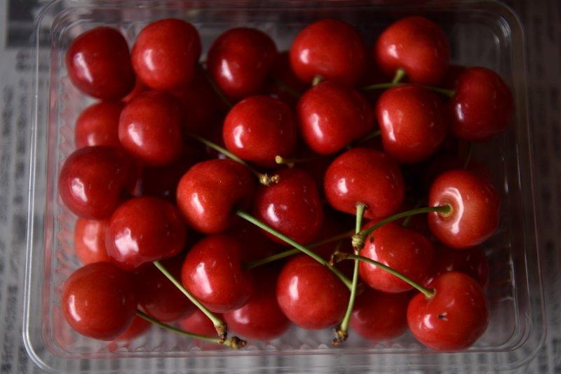 Yamagata's famous bright red 'sakuranbo'