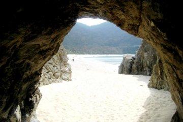 Pristine beach beyond the sandy path