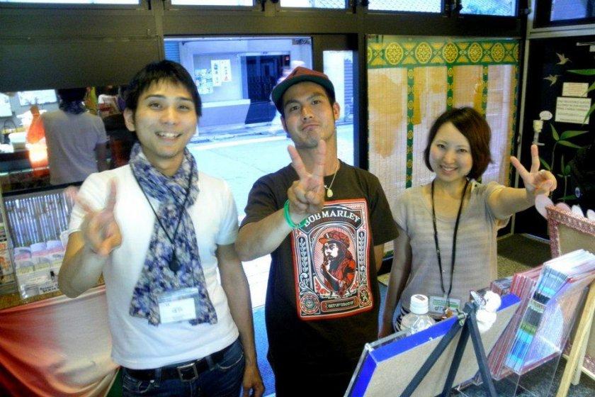 Kyoto Staff Takahiko Kase Kenji Kondo and Tsugumi Fuke