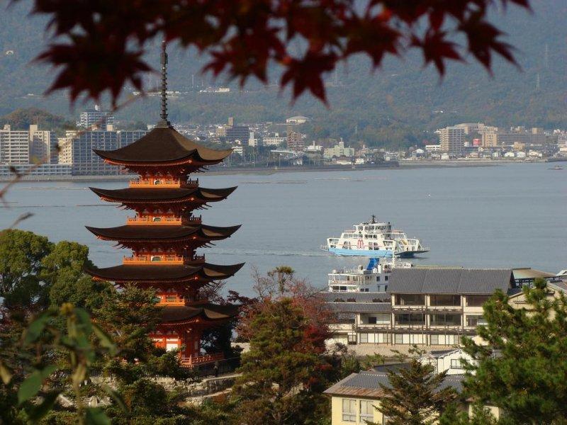 从宫岛眺望濑户内海
