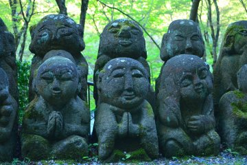 A thousand wisdoms of Buddha in Arashiyama Kyoto