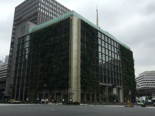 The Pasona building stands out in Chiyoda as its lined with greenery from top to bottom.