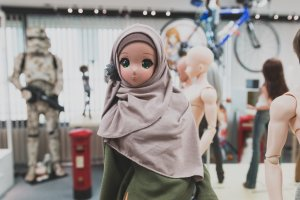 A doll in a hijab