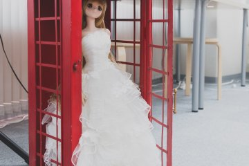 Doll in a wedding gown
