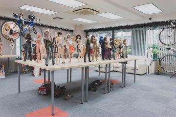 Muñecas en exhibición