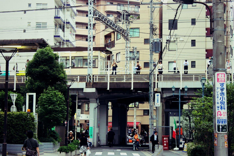 Xe lửa tại ga Machiya