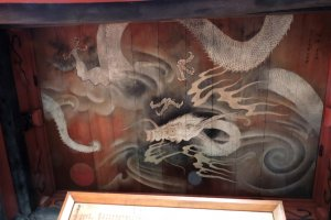White dragon on the ceiling