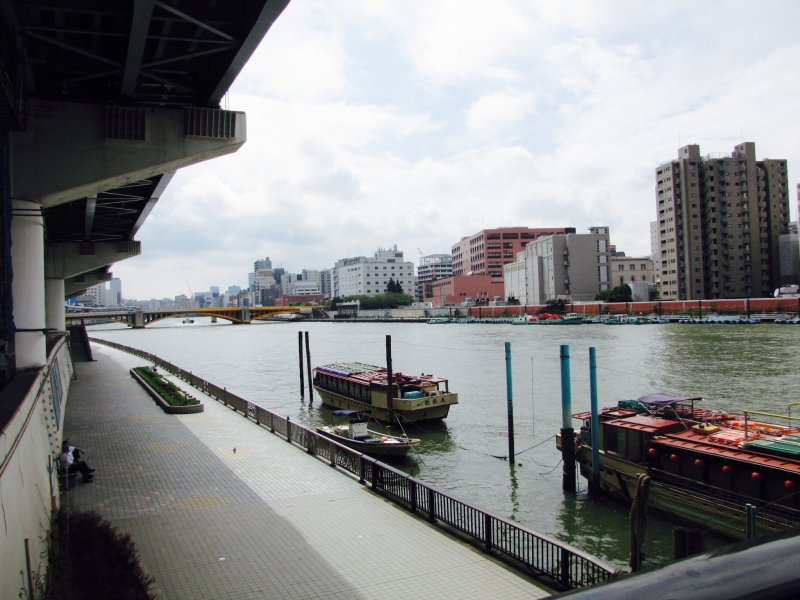 Sumida River banks is a great introductory run in Tokyo
