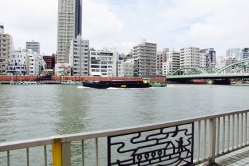 Take in the river life whilst jogging the Sumida River