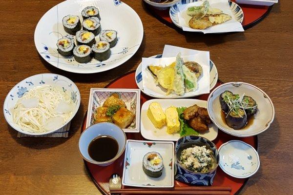 My second vegetarian dinner in Chiba