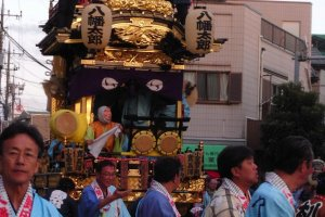 Float at the Kawagoe Matsuri in the daytime