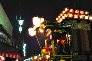 Float at the Kawagoe Matsuri at night-time