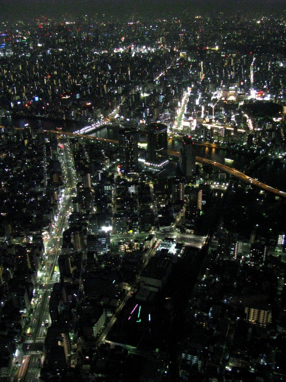 Pemandangan menakjubkan dari dek observasi