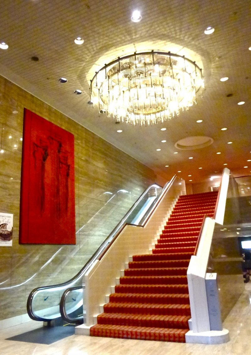 The lobby of the hotel
