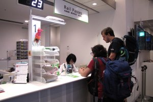 Staff at the JR East Travel Centre at Tokyo Station are happy to help you