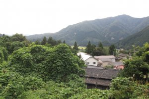 The town holds sweeping views over the valley