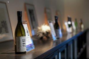 Sélection de bouteilles de la Brasserie de Saké Masumi