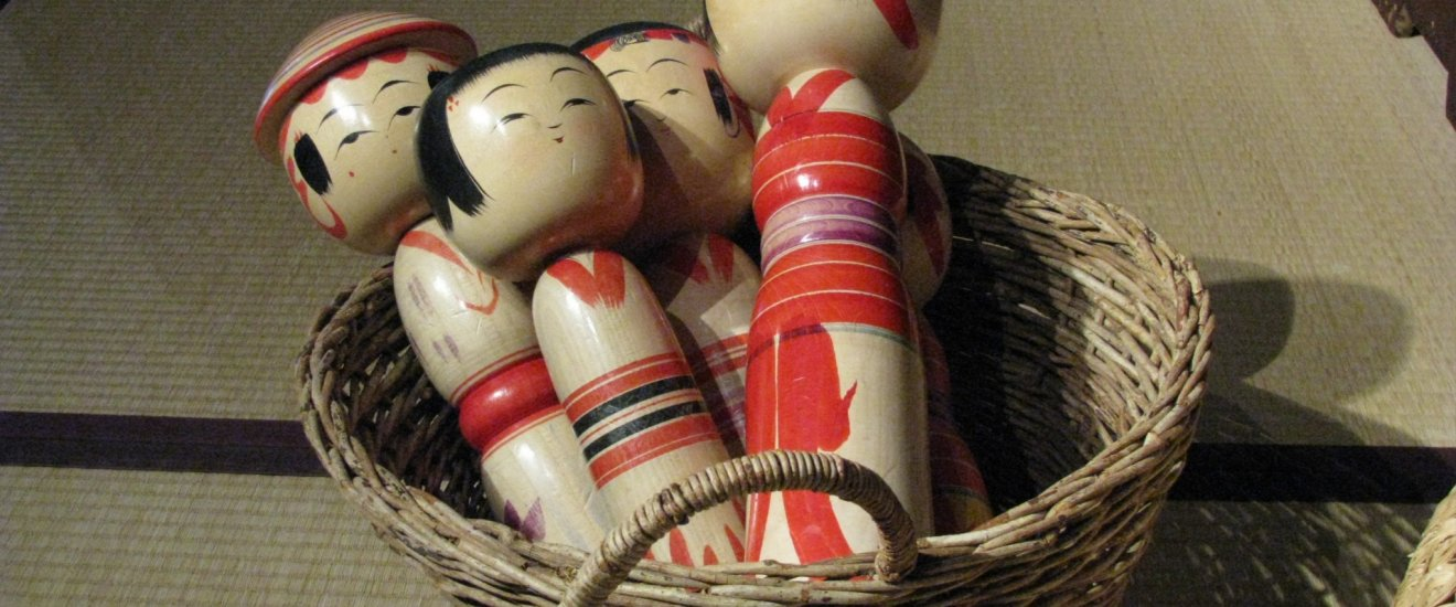 Traditional Kokeshi dolls of Shiroishi region