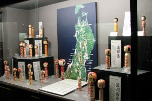 Kokeshi museum displays the local style of Kokeshi dolls