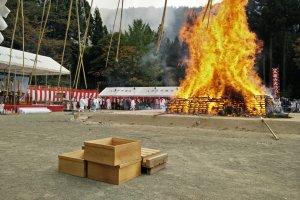 Acara jalan di api di Niigata