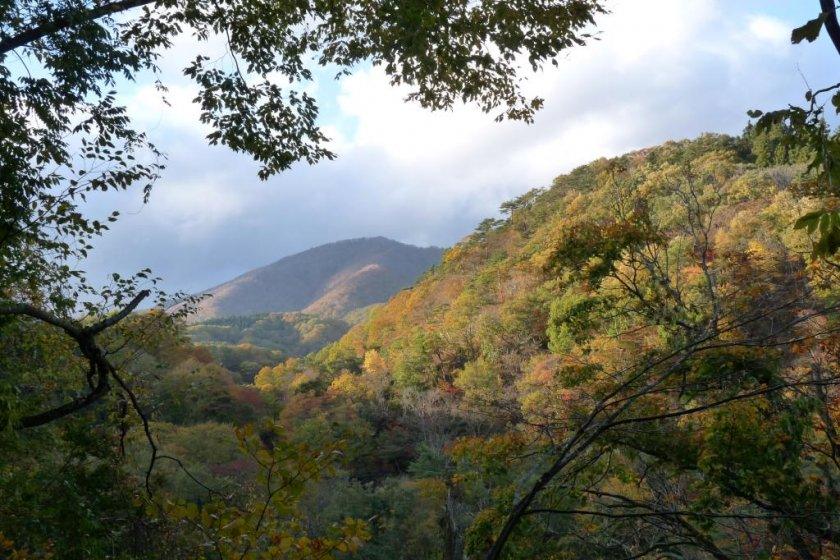 Rising from the foot of Naruko Gorge