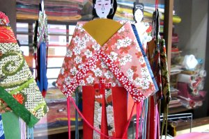 Female Tanabata dolls with fine painted faces