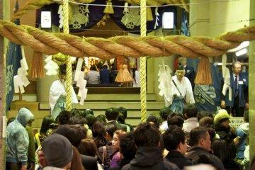 Ebisu Shrine during the Ebisuko Festival in November