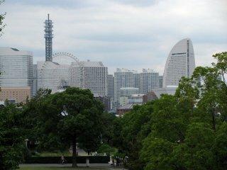 The view to Yokohama from Yamashita Park