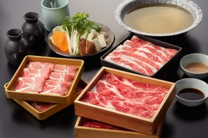 The shabu shabu course