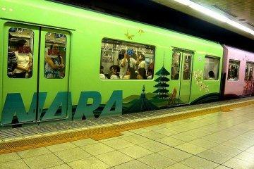 <p>Some Kintetsu Nara Trains continue northwards to Karasuma Oike and beyond</p>