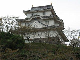 Le château vu de puis la porte