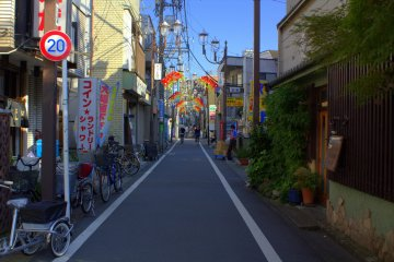 Typical shopping street in the area