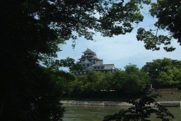 Okayama Castle view from Korakuen Garden