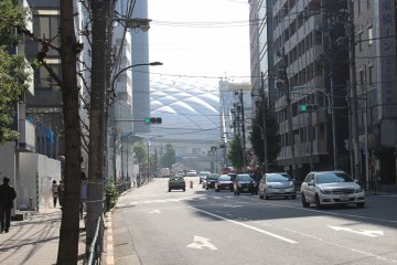 Tokyo Dome down the street