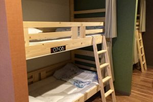 Bunk beds in the dormitory