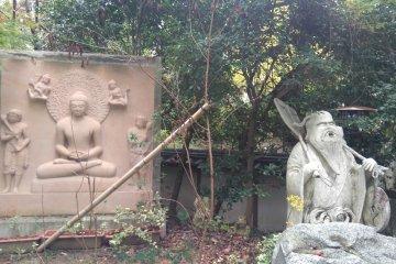 Buddha and a companion