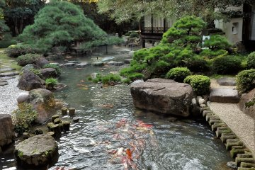 The Matsudaya Hotel's beautiful inner garden