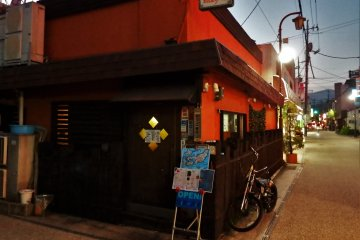 One of the many small, inviting restaurants in Yuda Onsen