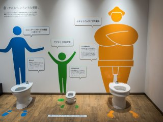 In case you got confused about which size toilet was for whom
