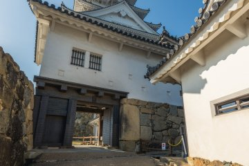 One of the gates at the base of Himeji Castle