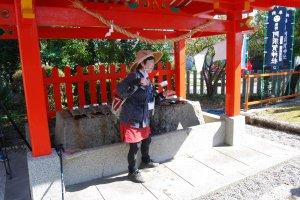 Purification first at Asuka Shrine